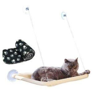 hamaca para gatos con ventosas para ventana