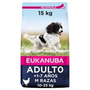 Eukanuba Alimento seco para perros adultos de razas medianas con pollo