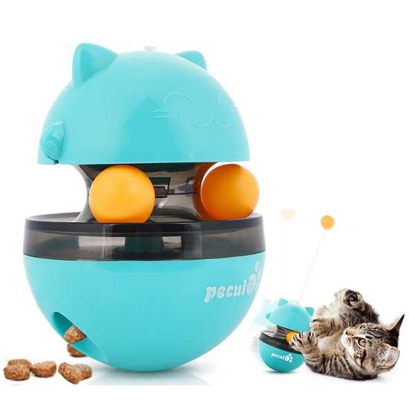 Juguetes para Gatos Interactivos Pelota Dispensadora de Comida Bola Volteadora
